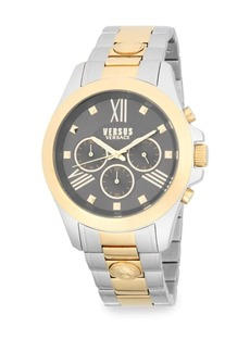Versace Two-Tone Lion Stainless Steel Chronograph Watch