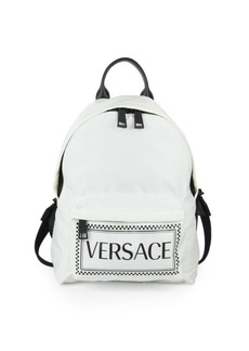 Versace Two-Tone Logo Backpack