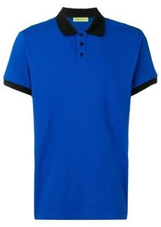 Versace two-tone polo shirt