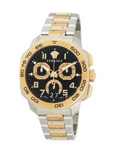 Versace Two-Tone Stainless Steel Bracelet Chronograph Watch