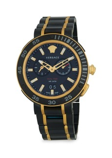 Versace Two-Tone Stainless Steel Bracelet Watch