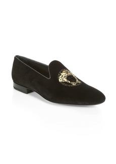 Versace Velvet Smoking Slippers