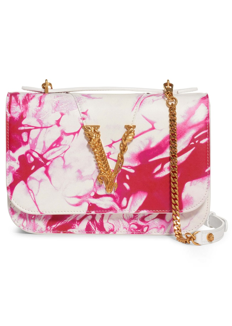 Versace Verace First Line Virtus Tie Dye Leather Crossbody Bag