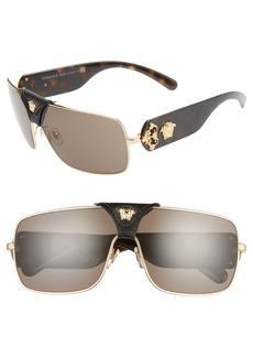 Versace 145mm Mirrored Shield Sunglasses