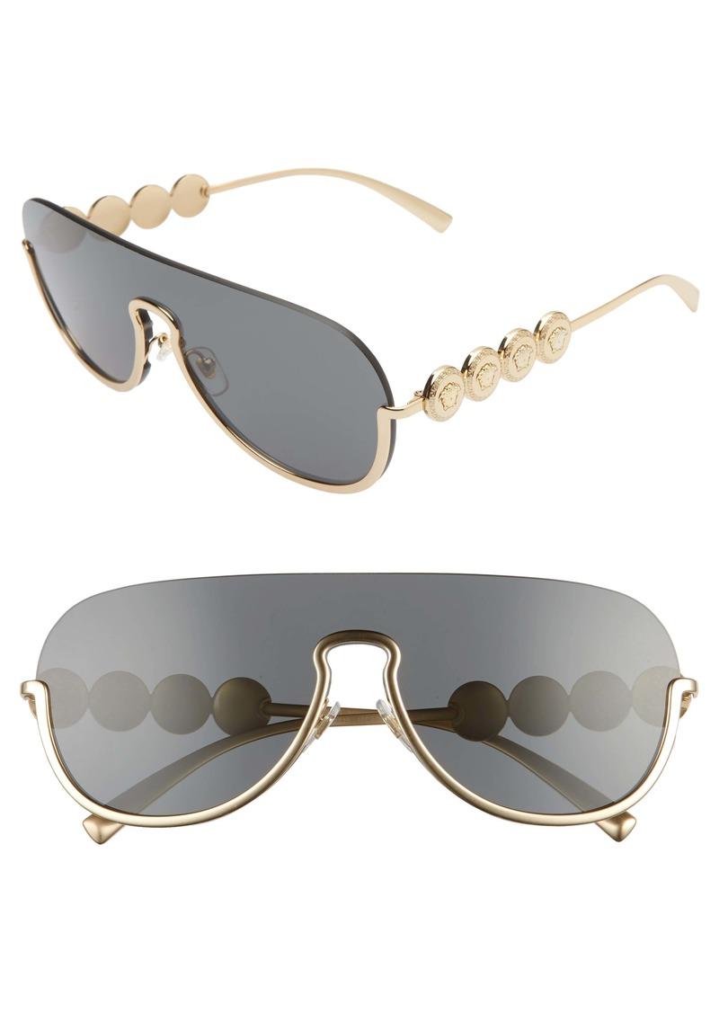Versace 138mm Pilot Shield Sunglasses