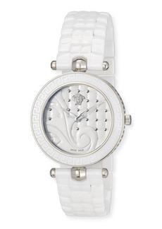 Versace 40mm Vanitas White Ceramic Watch