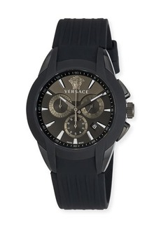 Versace 42.5mm Men's Character Chronograph Watch w/ Silicon Strap