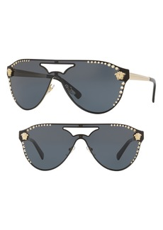 Versace 60mm Shield Mirrored Sunglasses