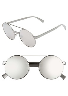 Versace 52mm Mirrored Round Sunglasses