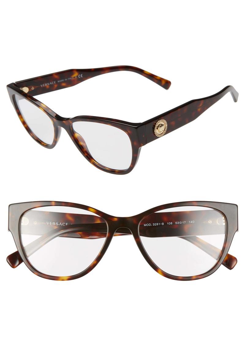 Versace 53mm Cat Eye Optical Glasses
