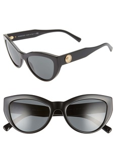 Versace 53mm Cat Eye Sunglasses
