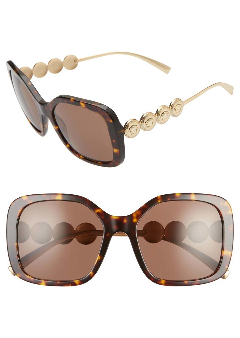 Versace 53mm Polarized Square Sunglasses