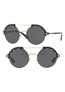Versace 53mm Semi-Rimless Sunglasses