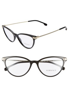 Versace 54mm Cat Eye Optical Glasses