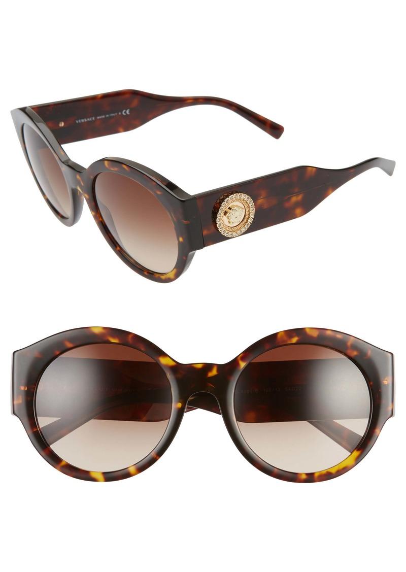 Versace 54mm Polarized Round Sunglasses
