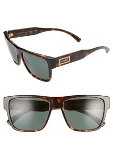 Versace 56mm Flat Top Sunglasses