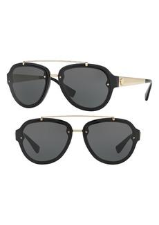 Versace 57mm Aviator Sunglasses