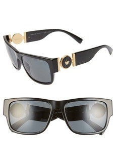 Versace 58mm Polarized Pillow Sunglasses