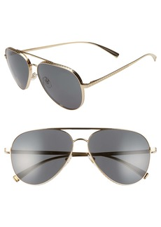 Versace 59mm Aviator Sunglasses