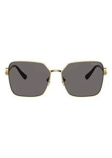 Versace 59mm Polarized Square Sunglasses