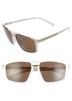 Versace 60mm Flat Top Sunglasses