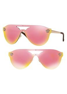 Versace 60mm Shield Mirrored Sunglasses