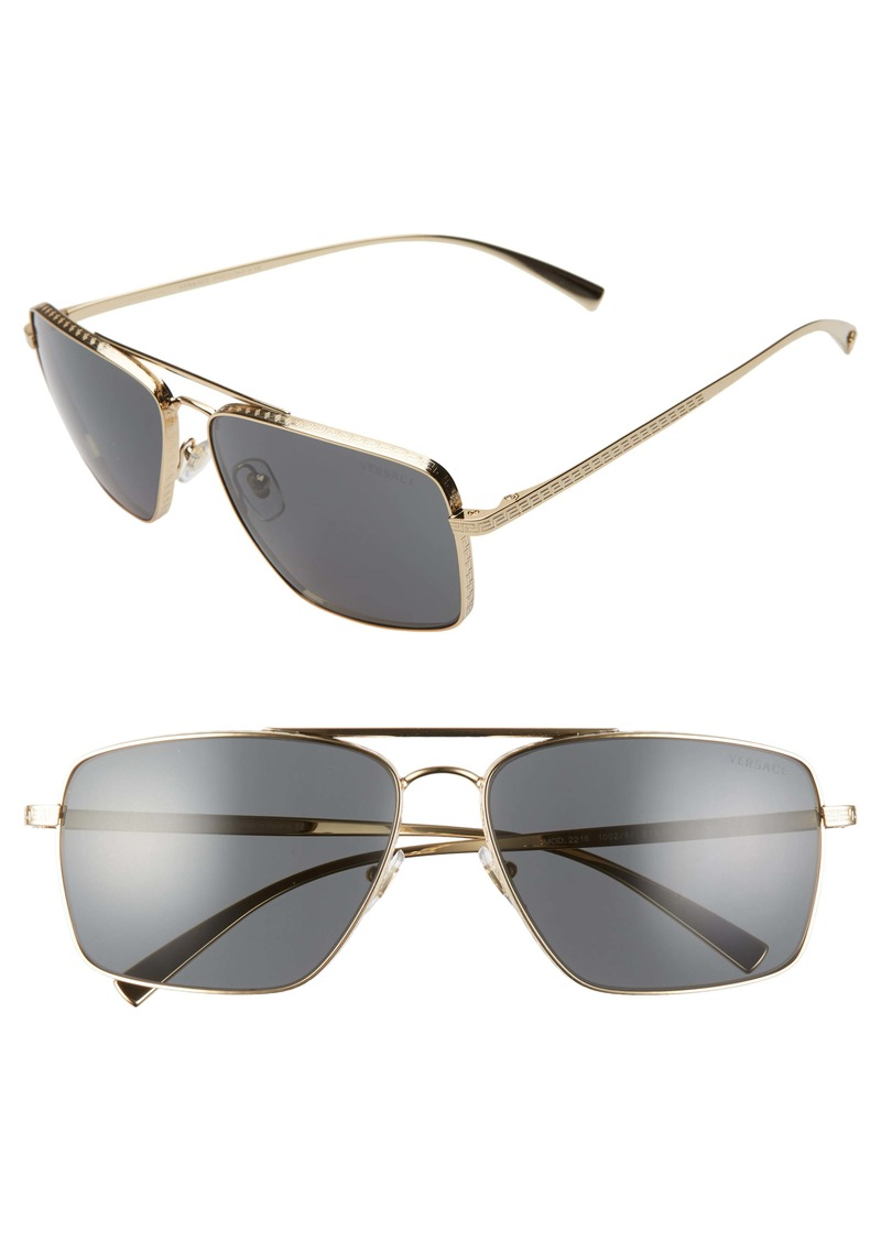Versace 61mm Aviator Sunglasses