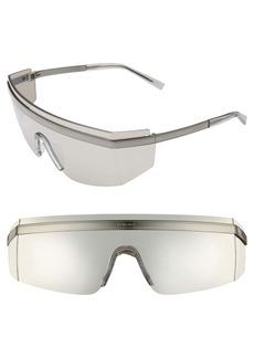 Versace 65mm Shield Wrap Sunglasses