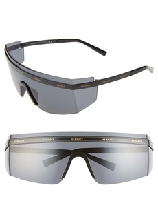 Versace 65mm Shield Wrap Sunglasses