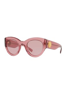 Versace Acetate Monochromatic Cat-Eye Sunglasses