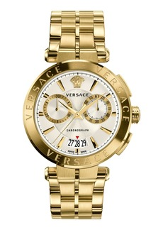Versace Aion Chronograph Bracelet Watch  White