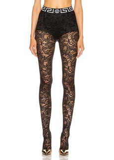 VERSACE All Over Lace Tights