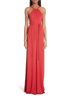 Versace Back Cutout Jersey Gown