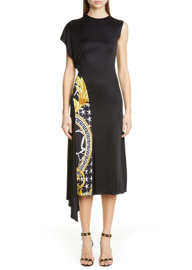Versace Barco Print Panel Dress