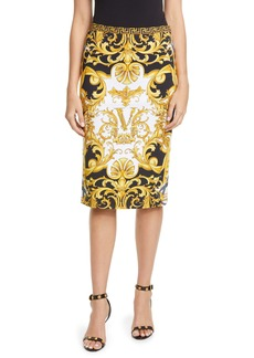Versace Barco Print Pencil Skirt