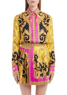 Versace Barco Print Silk Blouse