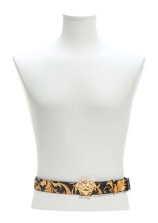 Versace Barocco Medusa Head Buckle Leather Belt