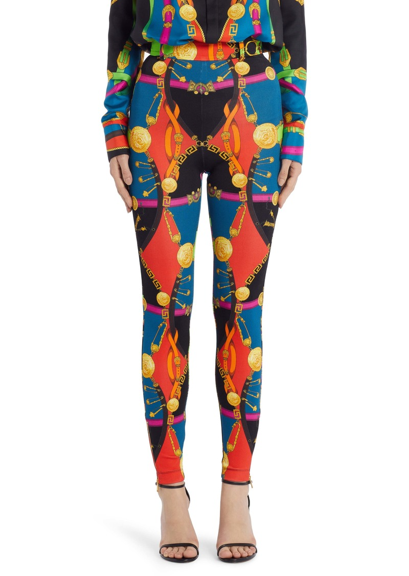 Versace Barocco Rodeo Print Leggings