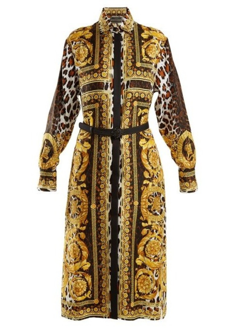 581ea969f91 Versace Versace Baroque and animal-print silk-twill shirtdress | Dresses