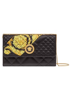 Versace Baroque Icon Quilted Leather Crossbody Bag