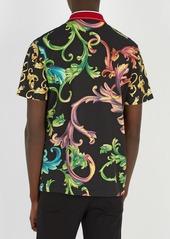 d131f6383490 Versace Versace Baroque-print cotton polo shirt