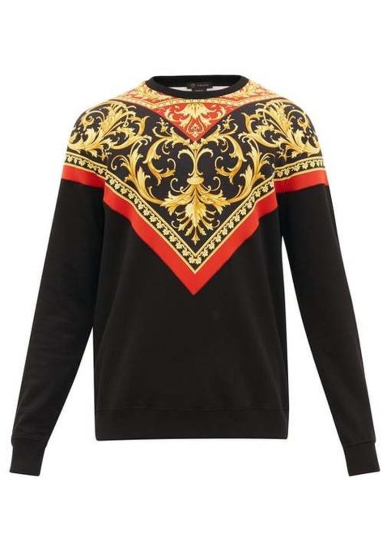 Versace Baroque-print cotton sweatshirt