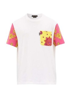 Versace Baroque-print cotton T-shirt