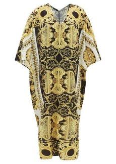 Versace Baroque-print georgette kaftan