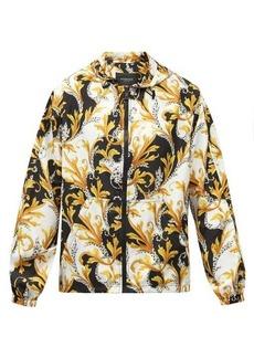 Versace Baroque-print hooded windbreaker jacket