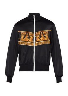Versace Baroque-print satin bomber jacket