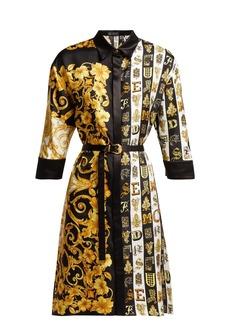 Versace Baroque-print silk-twill shirtdress
