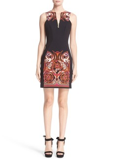 Versace Baroque Print Stretch Sheath Dress