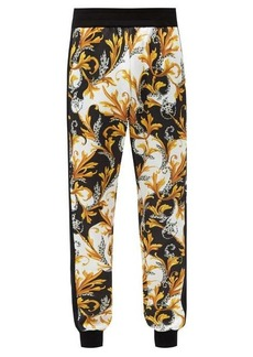 Versace Baroque-print technical jersey track pants