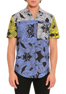 Versace Barrocco Istante Printed Short-Sleeve Sport Shirt